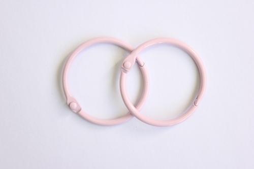 Кольца для альбома, 40 мм, розовые, 2 шт