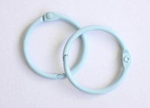 кольца для альбомов для скрапбукинга голубые