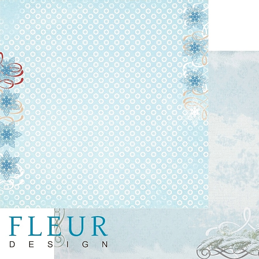 """Лист бумаги для скрапбукинга коллекция """"Зимние чудеса"""" от FLEUR design"""