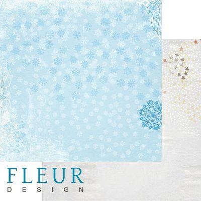"""Лист бумаги """"Снегопад"""", коллекция """"Зимние чудеса"""", 30х30 см (Fleur design)"""