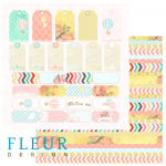 Лист бумаги для скрапбукинга коллекция Следуй за мечтой от FLEUR design