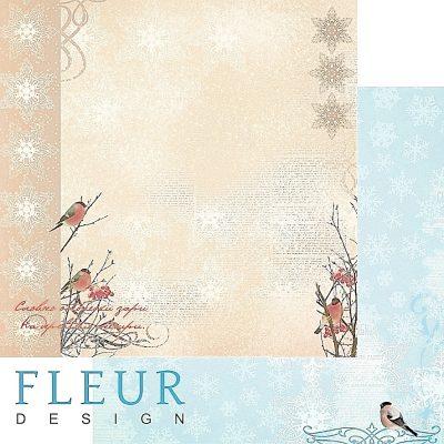 """Лист бумаги """"Зимние чудеса"""", коллекция """"Зимнее утро"""", 30х30 см (Fleur design)"""