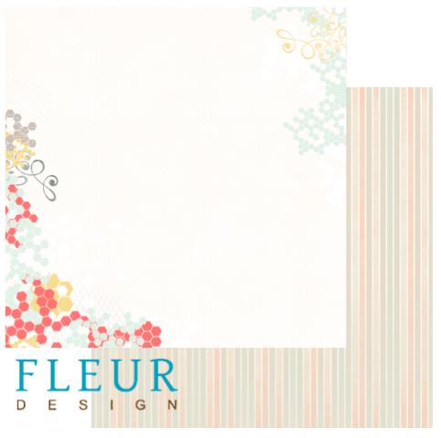 Лист бумаги для скрапбукинга коллекция Новая Весна от FLEUR design