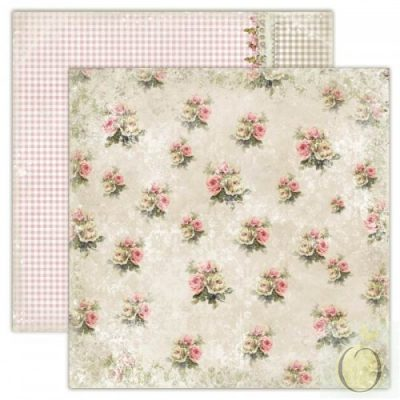 """Лист бумаги """"Старомодное платье"""" коллекции """"Дом роз"""" (Lemon Craft), 30,5х30,5 см"""