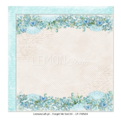 "Лист бумаги коллекции ""Незабудка-04"" (Lemon Craft), 30,5х30,5 см"