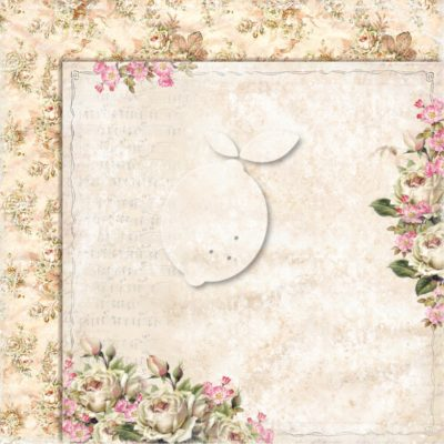 "Лист бумаги коллекции ""Дом роз-01"" (Lemon Craft), 30,5х30,5 см"