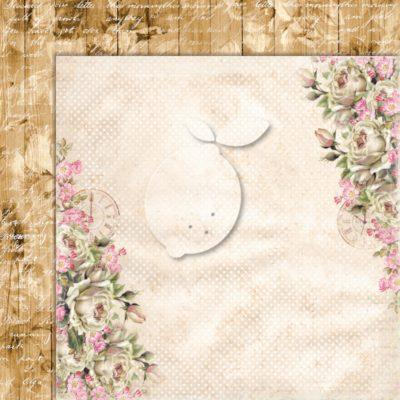 "Лист бумаги коллекции ""Дом роз-03"" (Lemon Craft), 30,5х30,5 см"