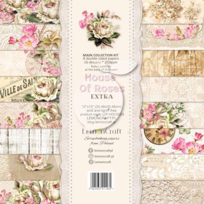 "Набор бумаги коллекции ""Дом роз"" (Lemon Craft), 8 л, 30,5х30,5 см"