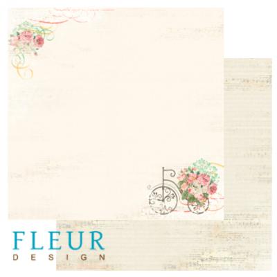 "Лист бумаги ""Цветущий сад"", коллекция ""Старый Парк"", 30х30 (Fleur design), 30*30 см"
