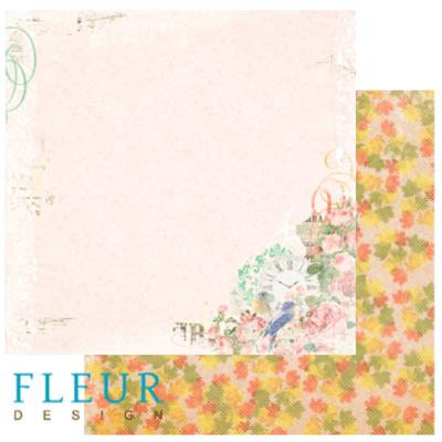 """Лист бумаги """"Прошествие лет"""", коллекция """"Старый Парк"""", 30х30 (Fleur design), 30*30 см"""