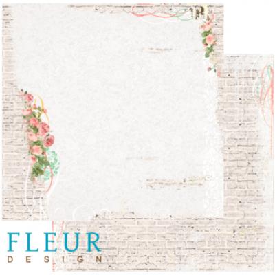 "Лист бумаги ""Старый портик"", коллекция ""Старый Парк"", 30х30 (Fleur design), 30*30 см"