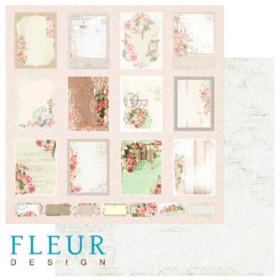 """Лист бумаги """"Карточки"""", коллекция """"Старый Парк"""", 30х30 (Fleur design), 30*30 см"""