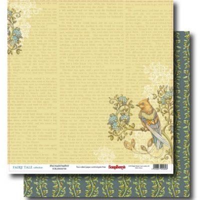"""Лист бумаги """"Волшебство"""", коллекция """"Сказка про Фей"""" (ScrapBerry's), 30х30 см"""