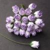 Бутоны роз полуоткрытые, бело-сиреневые, 1 см, 5 шт.