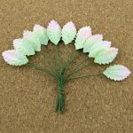 Листья розы, розово-зеленые, 2,5 см, 10 шт