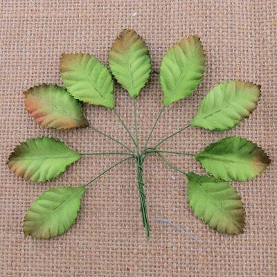 Листья розы, зеленые 2,5 см, 10 шт