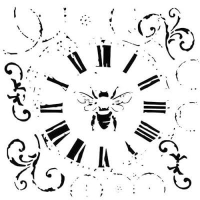 Трафарет Crafters Workshop, циферблат с пчелой, 15*15 см