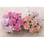 Кустовые розы 2,5 см, розовый микс, 4 шт.