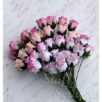 Бутоны роз открытые, розовый микс, 1,3 см, 4 шт.