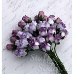 Бутоны роз открытые, сиреневый микс, 1,3 см, 4 шт.