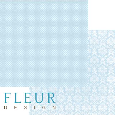 """Лист бумаги """"Небесный Голубой"""", коллекция """"Шебби Шик Базовая"""" (Fleur design), 30х30 см"""