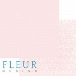 """Лист бумаги """"Ванильно розовый"""", коллекция """"Шебби Шик Базовая"""", 30х30 см (Fleur design)"""