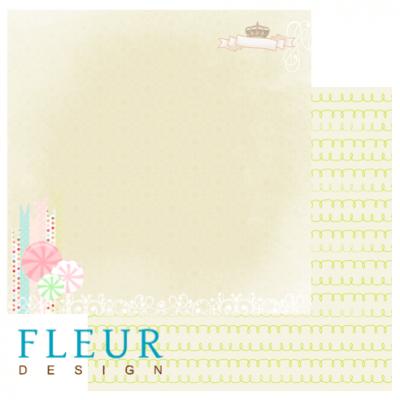 """Лист бумаги """"Сладости"""", коллекция """"Детская"""", 30х30 см (Fleur design)"""