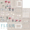 "Лист бумаги ""Надписи"", коллекция ""Весенняя"", 30х30 см (Fleur design)"