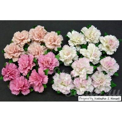 Гвоздики 2,5 см, розовый микс, 4 шт.
