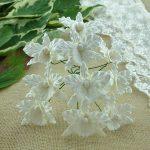 Орхидея белая, 5 шт, 3 см