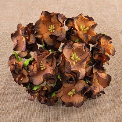 Гардении в коричневых тонах, 6 см, 1 шт