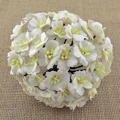 Цветы яблони 2,5 см, белый, 5 шт