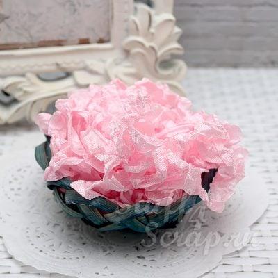 """Шебби лента """"Нежно розовый"""", 14 мм, 1 м."""