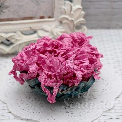 """Шебби лента """"розовая астра"""", 14 мм, 1 м."""
