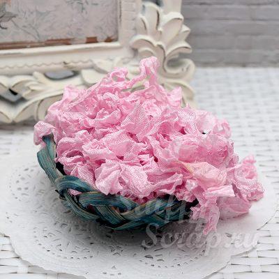 """Шебби лента """"Розовый тюльпан"""", 14 мм, 1 м."""