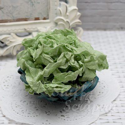 "Шебби лента ""Зеленый мох"", 14 мм, 1 м."