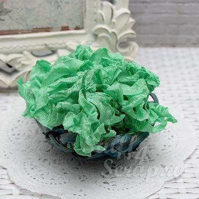 """Шебби лента """"Весенний зеленый"""", 14 мм, 1 м."""