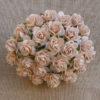 Открытые розочки 15 мм, бледно персиковый, 10 шт.