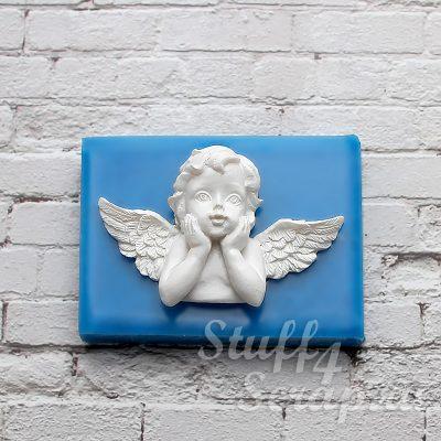 """Силиконовый молд  """"Задумчивый ангел-2"""""""