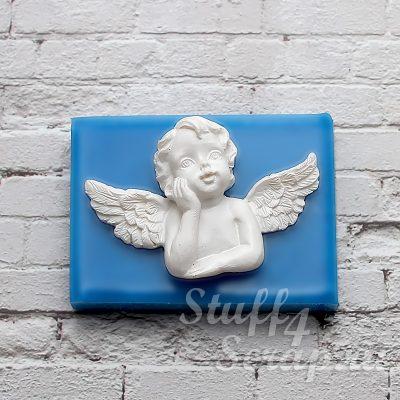 """Силиконовый молд  """"Задумчивый ангел-4"""""""