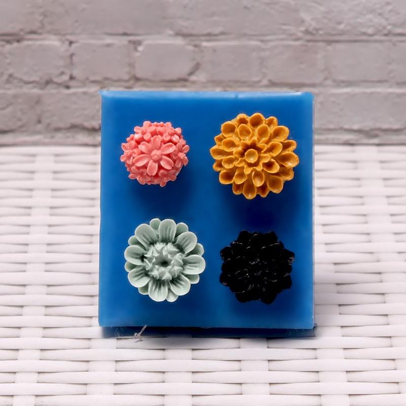 Силиконовые формы и молды для скрапбукинга, мастики и мыла цветы