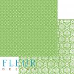 """Лист бумаги """"Светлая Зелень"""" , коллекция """"Шебби Шик Базовая"""", 30х30 см (Fleur design)"""