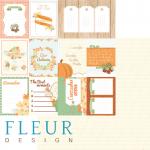 """Лист бумаги """"Карточки"""", коллекция """"Дыхание осени"""", 30х30 см (Fleur design)"""