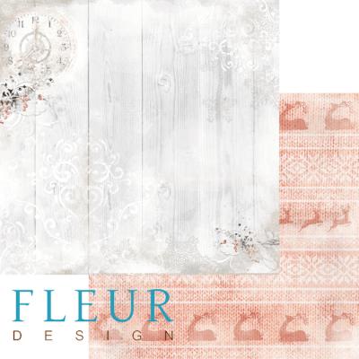 """Лист бумаги """"Морозные вечера"""", коллекция """"Шале"""", 30х30 см (Fleur design)"""