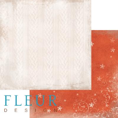 """Лист бумаги """"Свитер"""", коллекция """"Шале"""", 30х30 см (Fleur design)"""