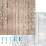 """Лист бумаги """"Морозы"""", коллекция """"Шале"""", 30х30 см (Fleur design)"""