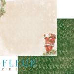 """Лист бумаги """"Дед мороз"""", коллекция """"Новогодняя ночь"""", 30х30 см (Fleur design)"""