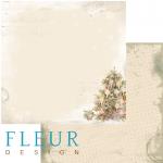 """Лист бумаги """"Елка"""", коллекция """"Новогодняя ночь"""", 30х30 см (Fleur design)"""