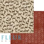 """Лист бумаги """"Маленькие помощники"""", коллекция """"Новогодняя ночь"""", 30х30 см (Fleur design)"""