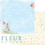 """Лист бумаги """"Моменты"""", коллекция """"Мальчики"""" (Fleur design), 30х30 см"""